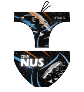 Past Custom Designed - NUS 2017 Boys/Men WP Trunks with Name (Pre-Order)
