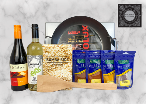 Perfect Paella Kit with Spanish Wine