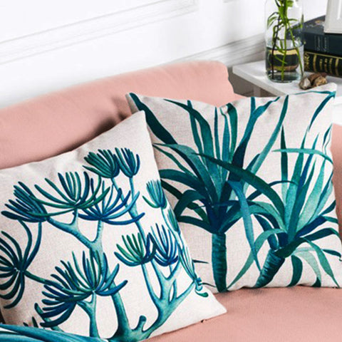 Cactus Cushion Covers on Couch