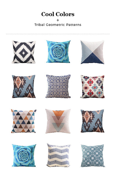 Cemavi Cool Color Cushion Combinations