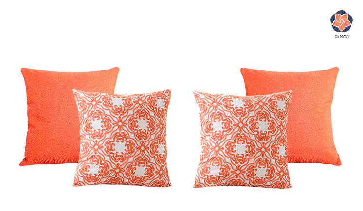 cemavi prince of orange and embroidered cushion covers