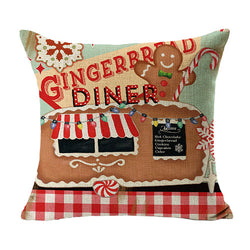 A Gingerbread Christmas Cushion Cover