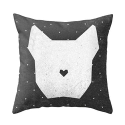 White Dog Cushion Cover
