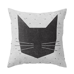 Black Cat Cushion Cover