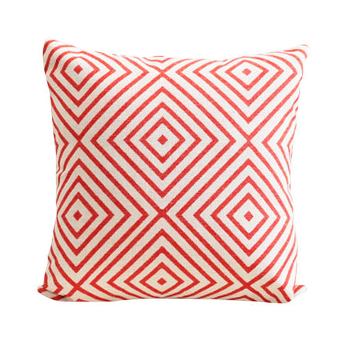 Geometric Red Squares Cushion Cover CEMAVI
