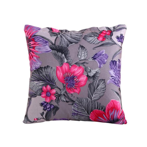 Flowers Grey Cushion Cover
