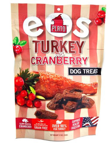 Plato Pet EOS Turkey Cranberry Treats