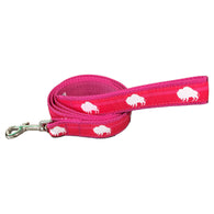 Bubble Gum Pink Buffalo Leash