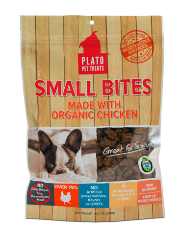 Plato Pet Small Bites Organic Chicken Treats