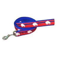 Game Day Red, White and Blue Buffalo Leash