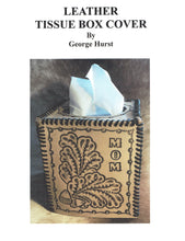 Leather Tissue Box Cover by George Hurst.