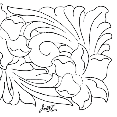 Free Leathercraft Pattern for Arizona/Porter Style Carving by Jim Linnell