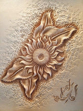 Carving and Coloring Sunflowers with Leather