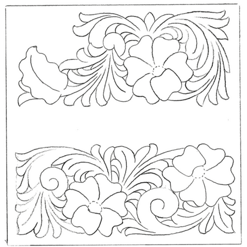 Free Leathercraft Pattern for Arizona/Porter Style Carving by Rocky Minster