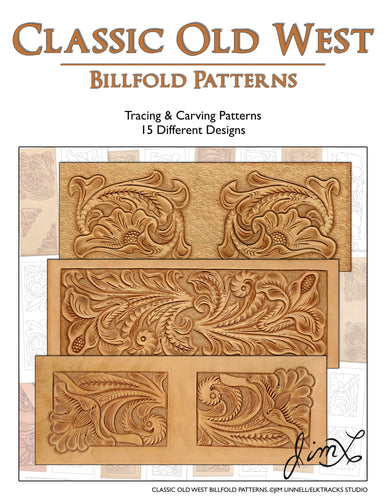 Classic Old West Billfold Patterns by Jim Linnell