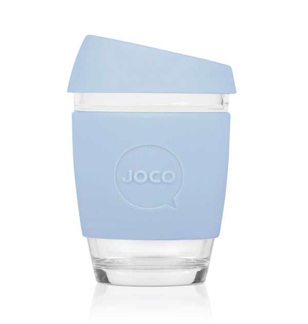 JOCO Cup - VINTAGE BLUE - 340 ml reusable glass coffee mug