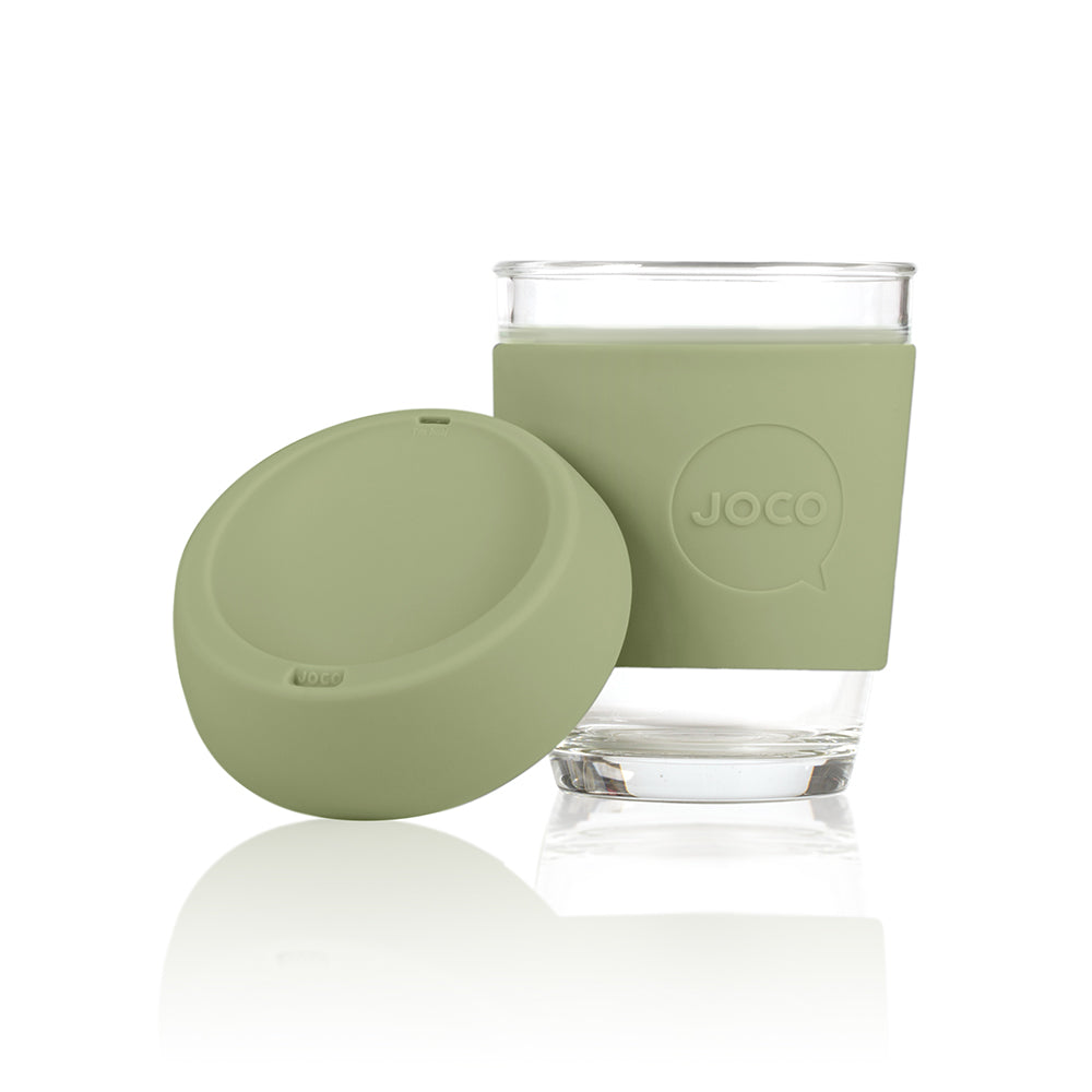 JOCO Cup - ARMY GREEN - 340 ml reusable glass coffee mug