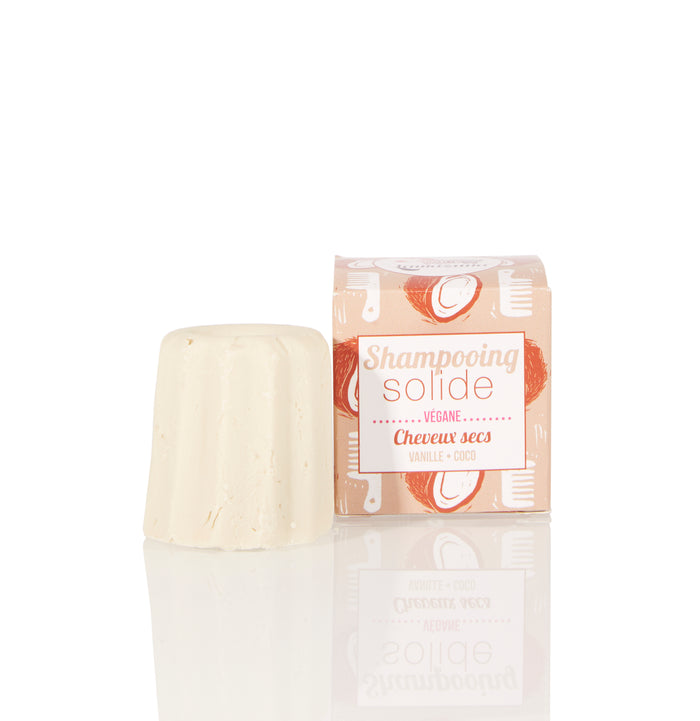 Lamazuna Solid Shampoo - Dry Hair - Vanilla & Coconut - No essential oils