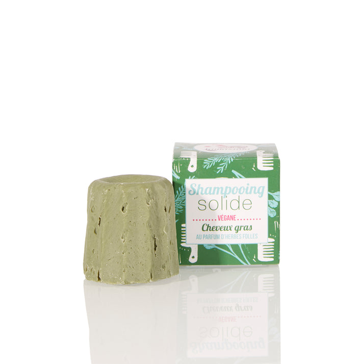 Lamazuna Solid Shampoo - Greasy Hair - Wild Herbs - No essential oils