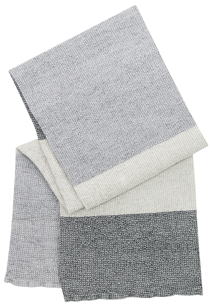 TERVA towel - white & multi grey - 2 sizes