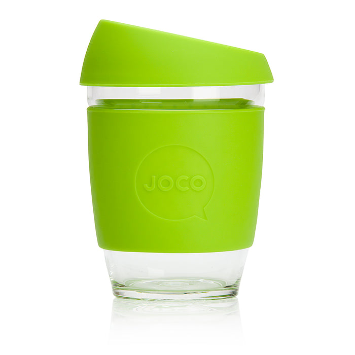 JOCO Cup - LIME - 340 ml reusable glass coffee mug
