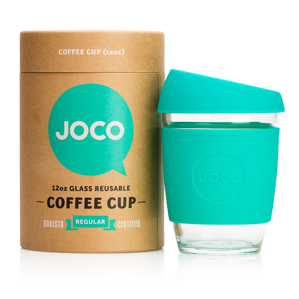 JOCO Cup - MINT - 340 ml reusable glass coffee mug