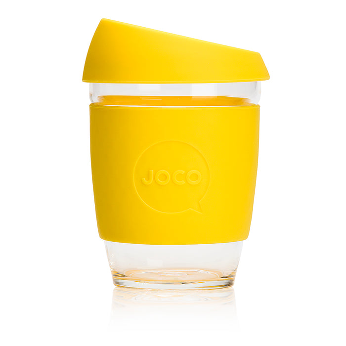 JOCO Cup - LEMON - 340 ml reusable glass coffee mug