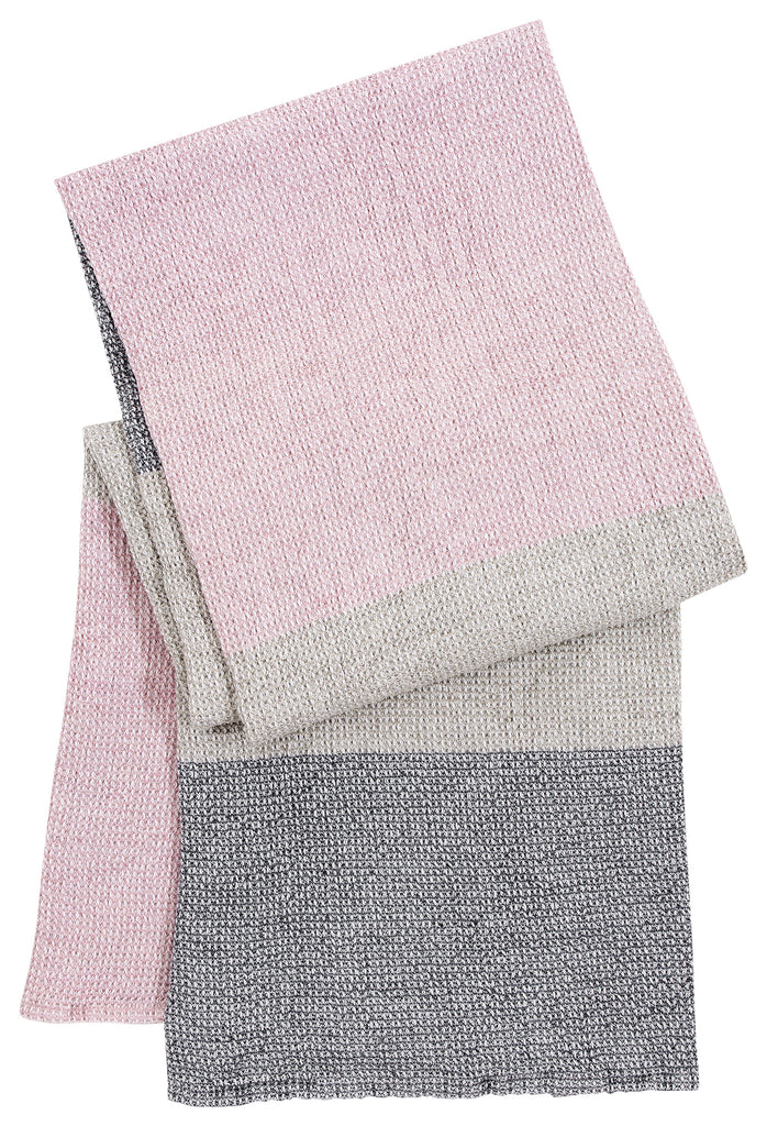 TERVA towel - white & multi rose - 2 sizes
