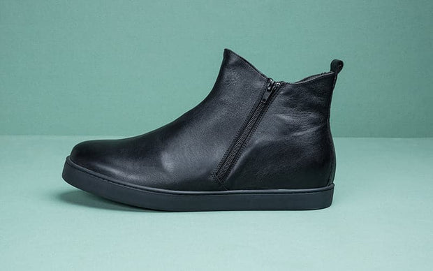 Bottines BOLT en cuir noir