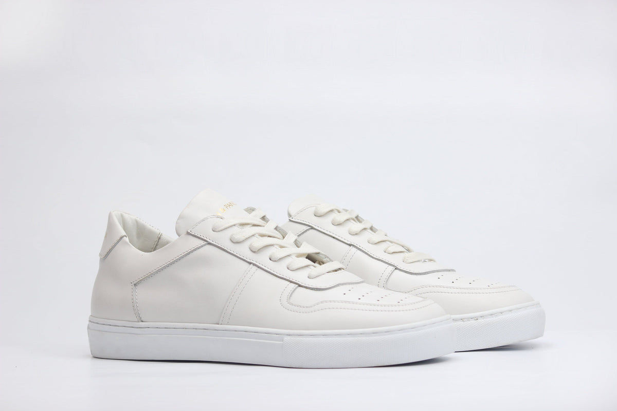 Sneakers BASE cuir blanc