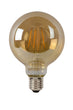 LAMP LED G95 Filament E27/5W 400LM 2700K Amber
