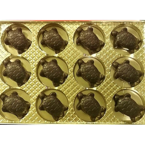Caramel Turtle in Milk, Dark  or White Chocolate, NUT FREE, 12 count
