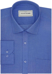 Selects Premium Giza Cotton Plain Shirt - Blue (0186) - Theshirtfactory