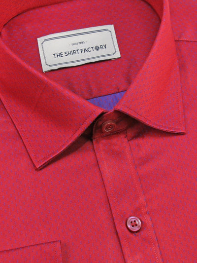 Men's Poly Cotton Printed Shirt Red (0992) - Theshirtfactory
