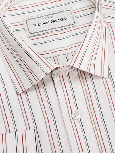 Men's Premium Cotton Striped Shirt - Multicolor Stripes (1131) - Theshirtfactory