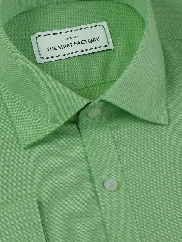 Selects 100% Premium Giza Cotton Plain Shirt - Green (0309) - Theshirtfactory