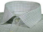 Men's Premium Cotton Twill Check Shirt - Light green Checks (1071) - Theshirtfactory