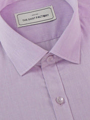 Men's Formal Cotton Blend Plain Shirt - Purple (0430) - Theshirtfactory