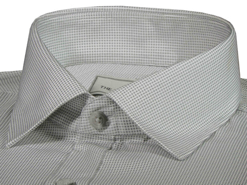 Men's Premium Cotton Blend Dobby Shirt Light Grey (0988) - Theshirtfactory