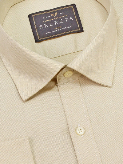 Men's Premium Giza Cotton Plain Shirt - Beige (0306) - Theshirtfactory