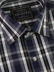 Selects Premium Cotton Check Shirt - Deep Grey (0374) - Theshirtfactory