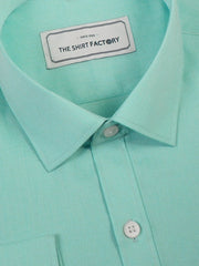 Men's Premium Cotton Blend Plain Shirt Sky Blue (0865) - Theshirtfactory