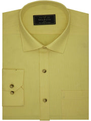 Selects Premium Giza Cotton Plain Shirt Yellow - (0902) - Theshirtfactory