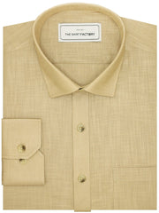 Men's Poly Cotton Plain Shirt Beige (0938) - Theshirtfactory