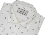 Men's Premium Cotton Printed Shirt - White (0946) - Theshirtfactory