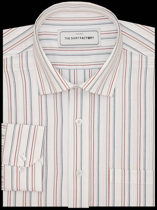 Men's Premium Cotton Striped Shirt - Multicolor Stripes (1131)