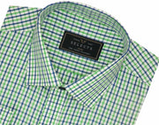 Selects Premium Cotton Check Shirt - Green Checks (1017) - Theshirtfactory
