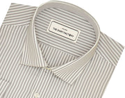 Men's Premium Cotton Striped Shirt - Gray (1030) - Theshirtfactory
