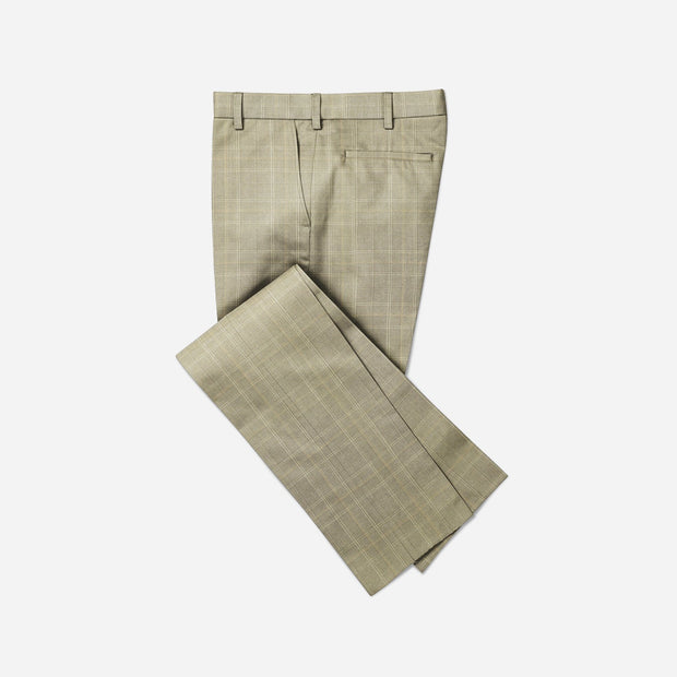 Selects Men's Formal Trouser - Beige Checks (TRO-032) - Theshirtfactory