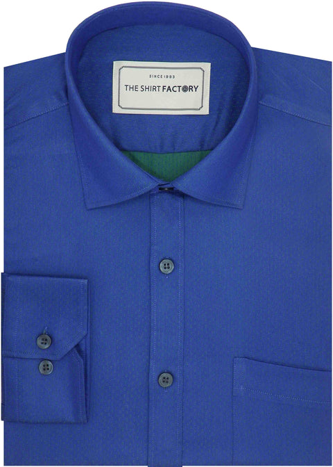 Men's Premium Cotton Blend Dobby Shirt - Blue (0994) - Theshirtfactory